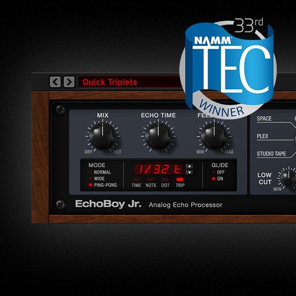 EchoBoy Jr. Wins NAMM TEC Award